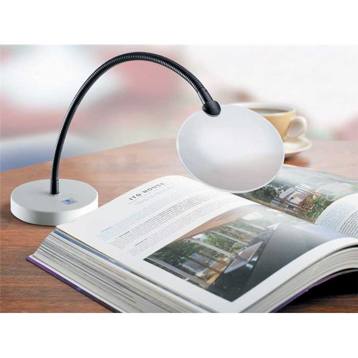 Loupe flexible sur socle de table