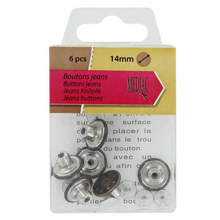 Boutons jeans (6) bronze