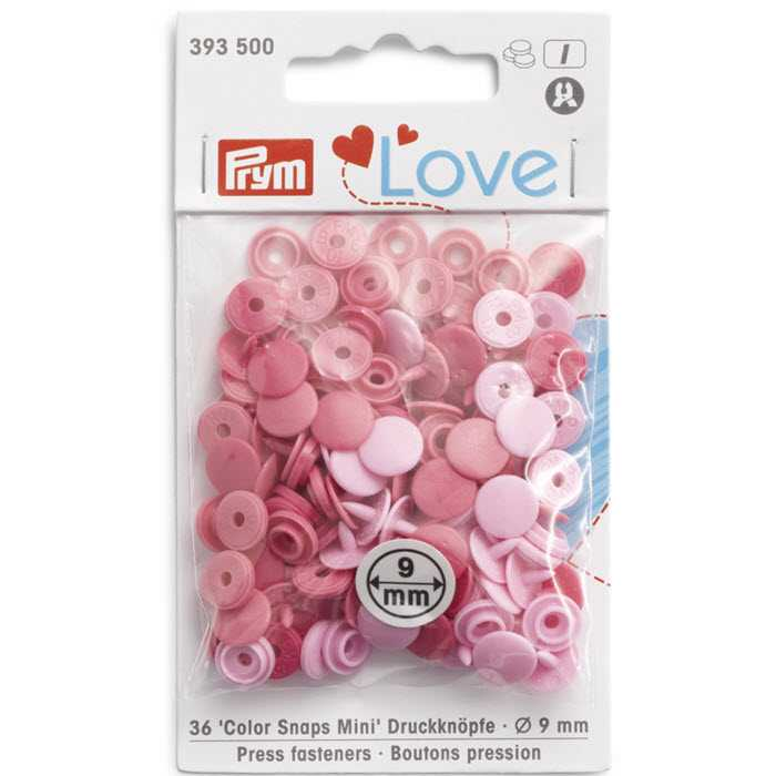 Bouton pression 9mm tons roses Prym