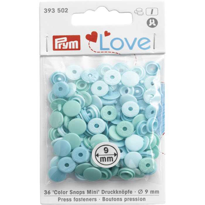 Bouton pression 9mm tons verts Prym