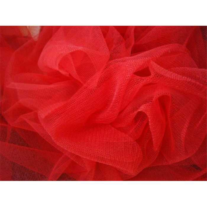 Tulle 137cm Rouge /m