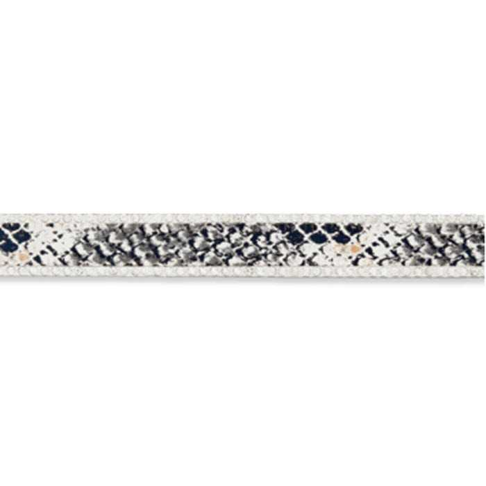 Galon strass serpent blanc/noir 15mm /m