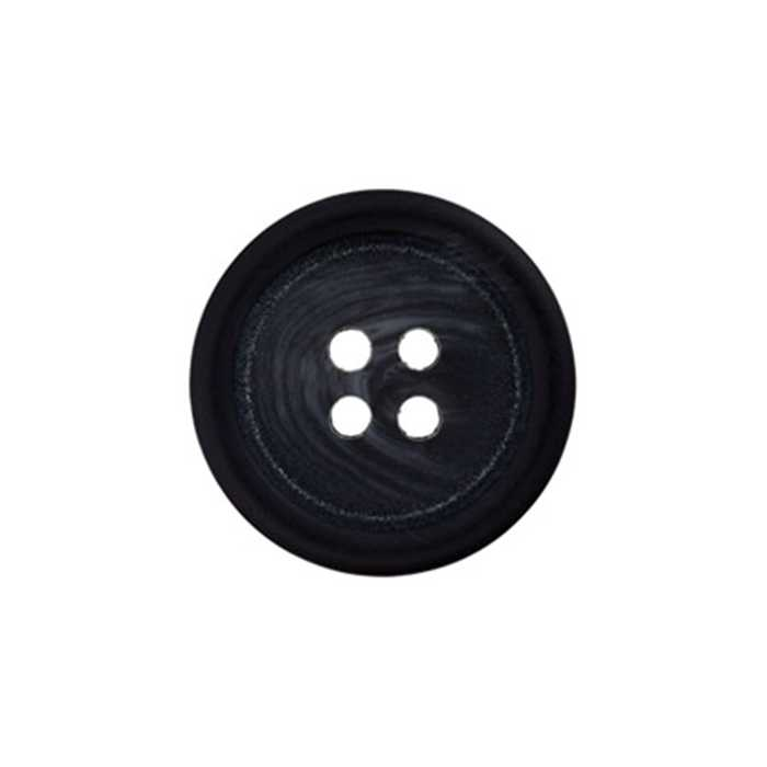 Bouton 4 trous anthracite 15mm