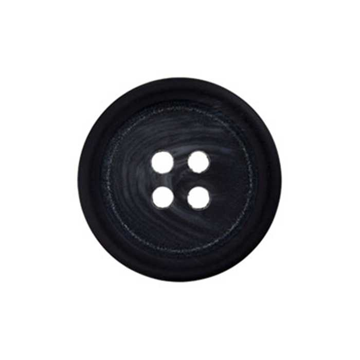 Bouton 4 trous anthracite 20mm