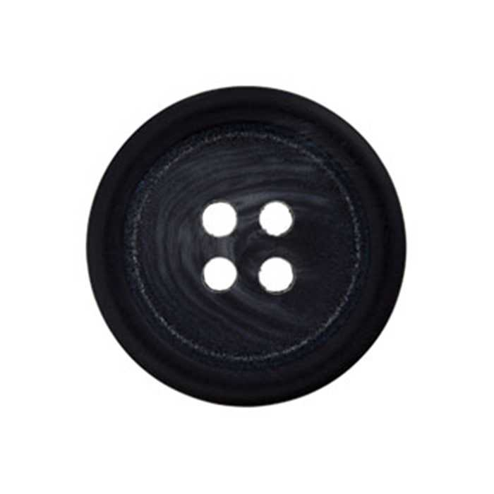 Bouton 4 trous anthracite 25mm