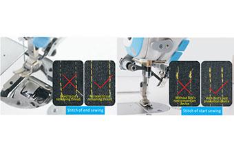 Machine à coudre industrielle Jack A5 - Dispositif nid d'oiseauCoupe-fil automatique