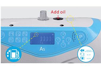 Guide vocal, alarme por l'huile - Machine à coudre industrielle Jack A5