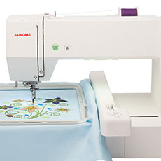 Taille effective de broderie de la Janome MC 500E