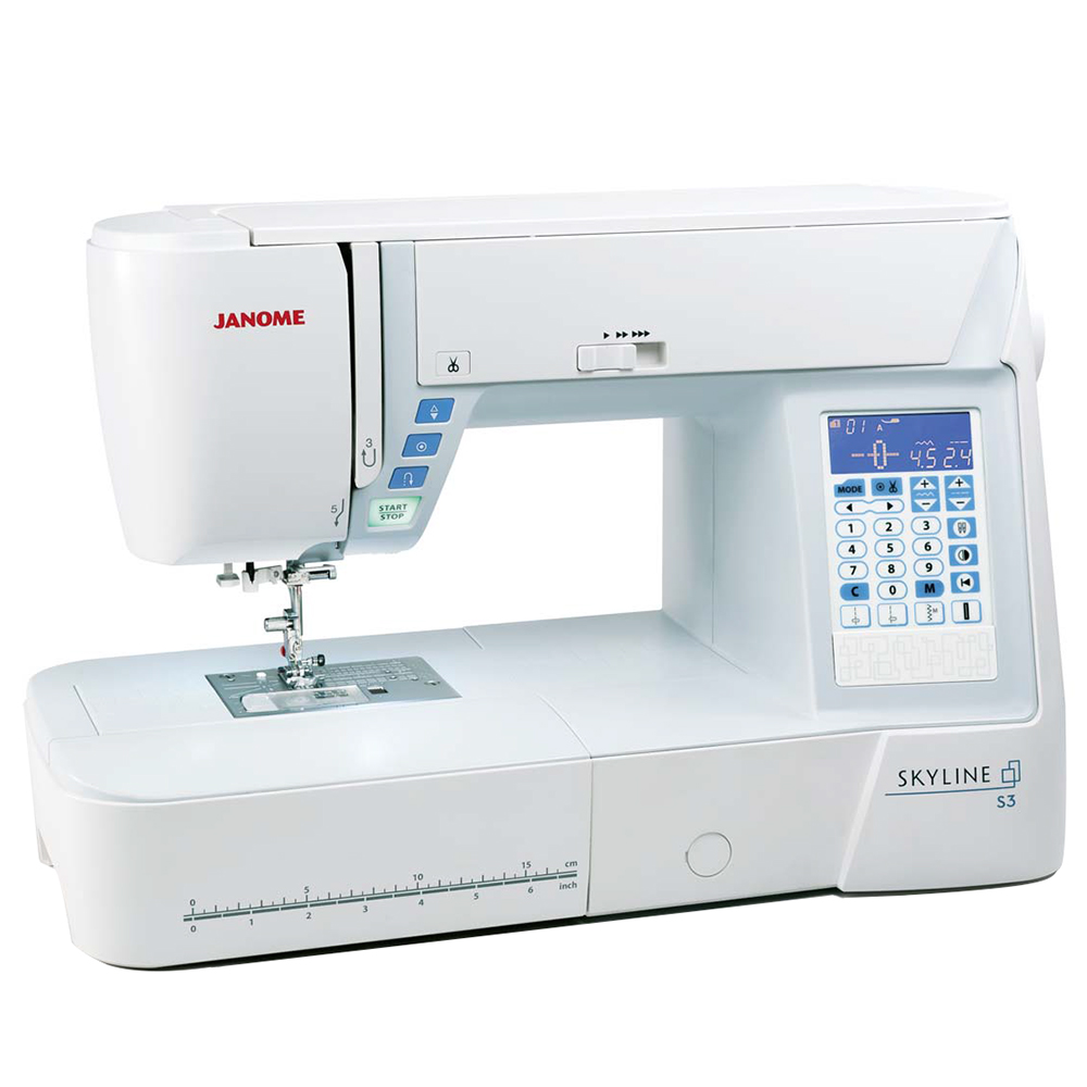 Janome skyline s3 table janome ets stecker bertrix for Machine a coudre 7 ans