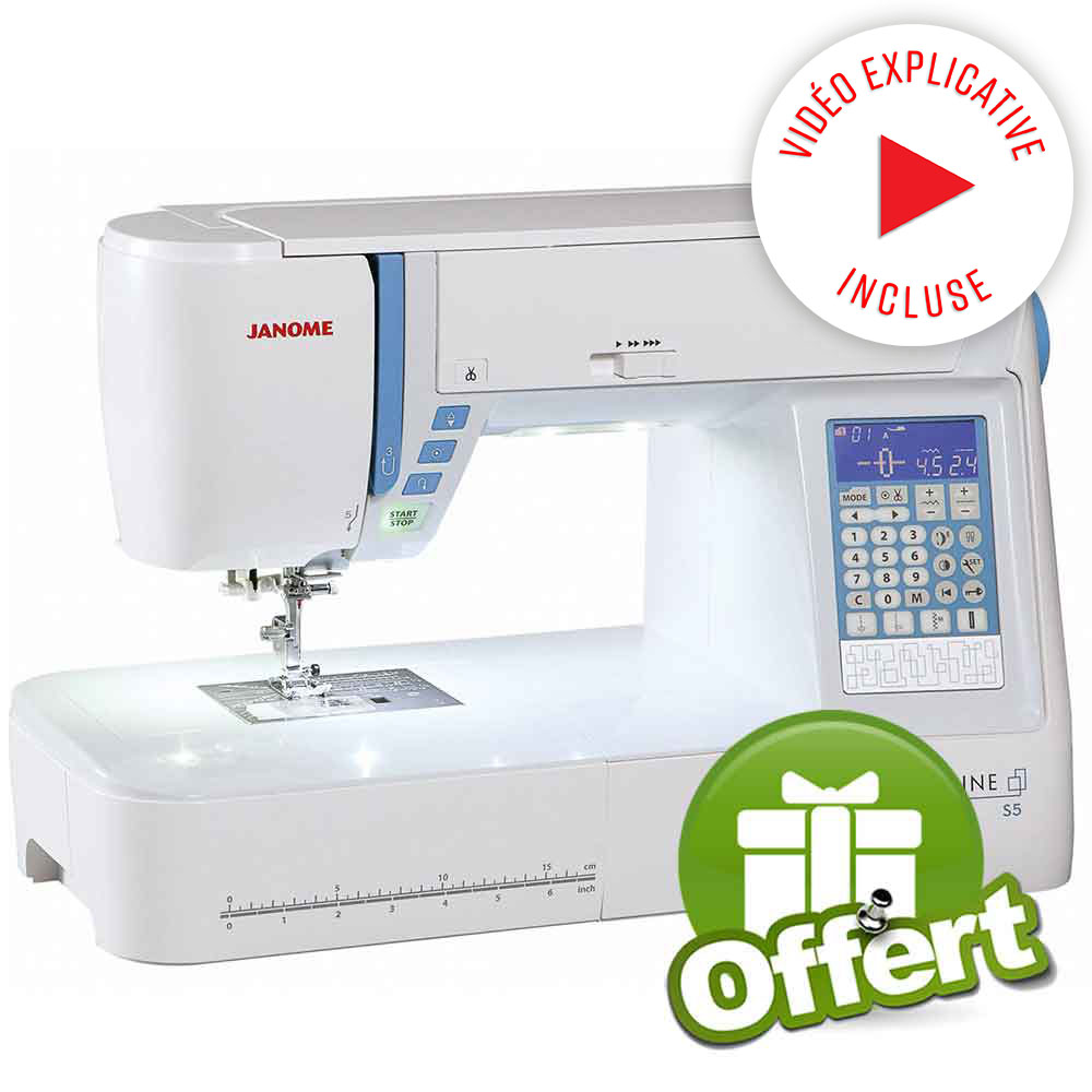 Janome skyline s5 table janome ets stecker bertrix for Machine a coudre 50 euros