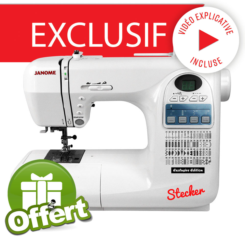 Janome exclusive edition stecker janome ets stecker for Machine a coudre 50 euros