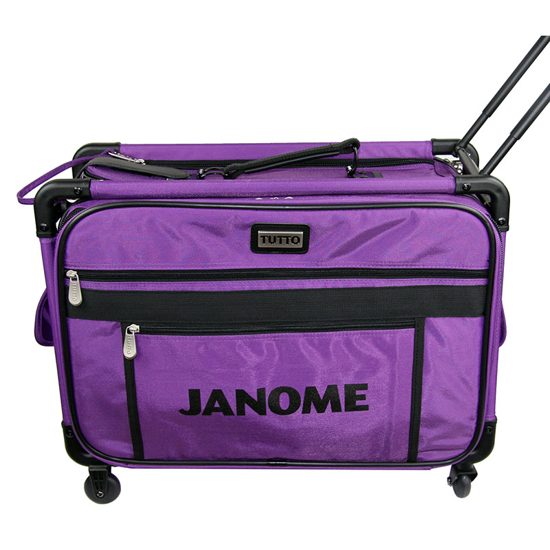 valise roulette trolley small pourpre janome ets stecker bertrix. Black Bedroom Furniture Sets. Home Design Ideas